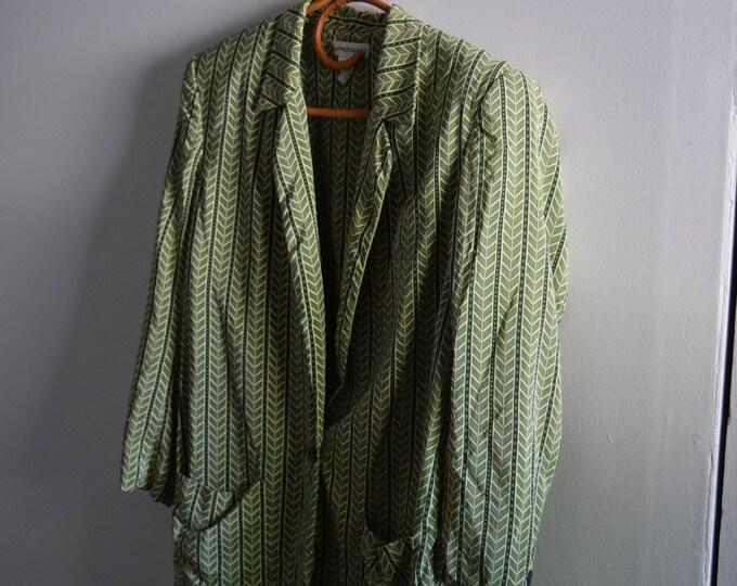 vintage alfred sung chevron silk blazer.