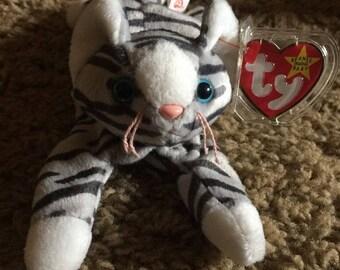TY Beanie Babies Baby Prance Gray Striped Cat Kitty Kitten 1997