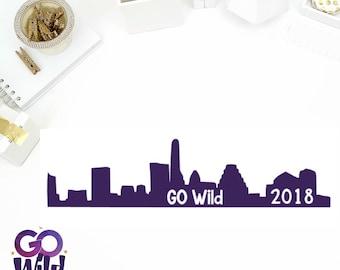 Go Wild Austin Skyline Sampler Stickers! Perfect for your Erin Condren Life Planner, calendar, Paper Plum, Filofax!