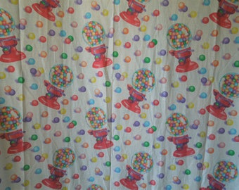 SALE Set of 80s Lisa Frank Gumball Machine Bed Sheets