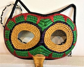 Handwoven Raccoon Half Mask