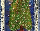 Folk Art Christmas in Blu...