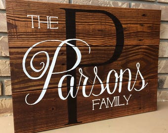 Rustic Pallet Family Sign