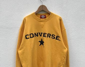20% OFF Vintage Converse Embroidery Big Logo Sweatshirt/Converse Usa/Converse Sweater/Converse Spell Out