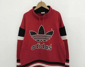 20% OFF Vintage Adidas Big Logo Sweater,Adidas Pullover Sweater,Hiphop,Swag,Adidas Multi Color Sweater