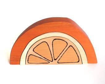 Orange Blocks Wood Stacker Toy