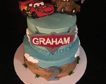Cars Themed Cake Topper