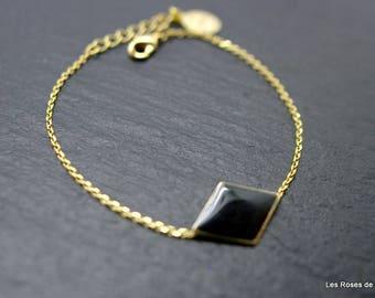 Bracelet graphic diamond gold