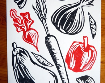 "Vegetables Print 8"" x 10"""