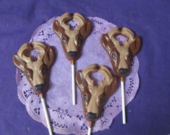 Buck Deer Hunting 12 chocolates lollipops