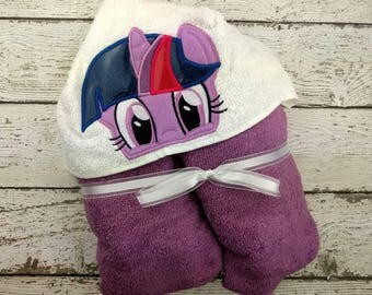 Twilight Pony Children's Hooded Towel - Baby Towel - Childrens Hood Towel - Bath Towel - Beach Towel - Personalized Towel - Character Towel