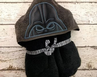 READY TO SHIP Darth Vader Children's Hooded Towel