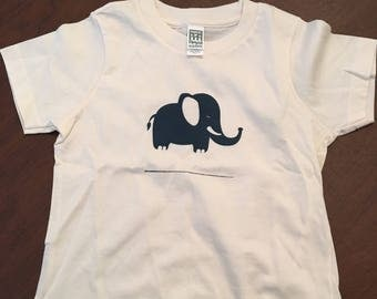 Oops..Elephant Organic Cotton Toddler Tee Clothes Custom Screen Printed Tee Organic Tshirt