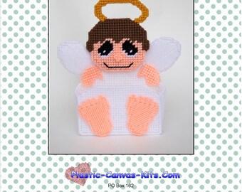 Angel Treat Holder-Christmas-Plastic Canvas Pattern-PDF Download