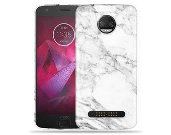 Motorola Moto Z2 Play Case - Motorola Z2 Play Case #Marble Up Cool Design Hard Phone Cover