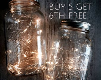 SALE! Fairy lights, Rustic Wedding Decor, Wedding Centerpiece Lights, Mason Jar Lighting, Copper Wire Lights, Battery included *No Jar