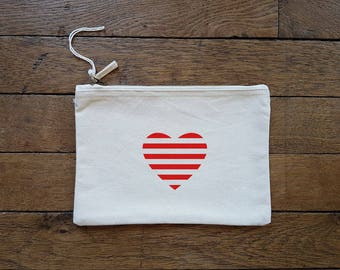 Zipper pouch for heart (size L)