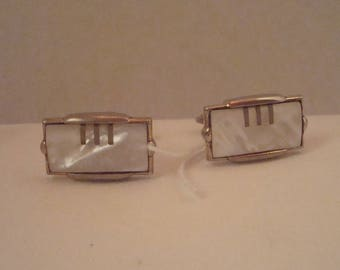Exquisite vintage gilt mother of pearl cufflinks