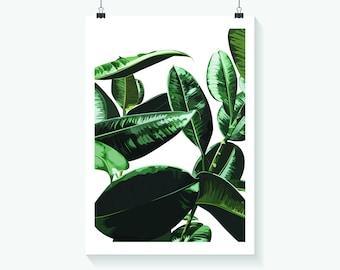 Leaves Print - Home Decor - Hippie Art Print -  Art Print - Summer Print- Floral Print- Supernatural