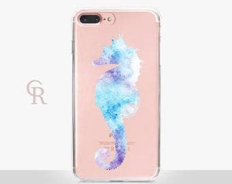 Seahorse iPhone SE Case - Clear Case - For iPhone 8 - iPhone X - iPhone 7 Plus - iPhone 6 - iPhone 6S - iPhone SE Transparent - Samsung S8