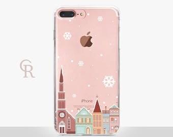 Christmas iPhone 8 Plus Clear Case -- Clear Case - For iPhone 8 - iPhone X - iPhone 7 Plus - iPhone 6 - iPhone 6S - iPhone SE Transparent