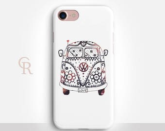 Hippie Bus iPhone X Case For iPhone 8 iPhone 8 Plus - iPhone X - iPhone 7 Plus - iPhone 6 - iPhone 6S - iPhone SE - Samsung S8 - iPhone 5