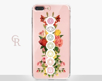 Chakra iPhone 8 Clear Case - Clear Case - For iPhone 8 - iPhone X - iPhone 7 Plus - iPhone 6 - iPhone 6S - iPhone SE Transparent Samsung S8