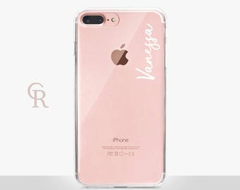 Personalised Clear Phone Case  For iPhone 8 iPhone 8 Plus iPhone X Phone 7 Plus iPhone 6 iPhone 6S  iPhone SE Samsung S8 iPhone 5 custom