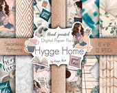 Fashion Papers, Hygge home papers, Watercolor patterns, Gold papers, Blogger girl, Planner papers, Scrapbook papers, Desiner papers