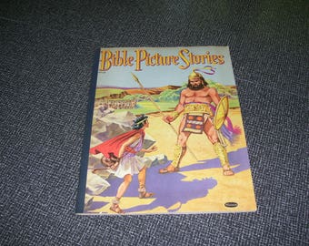 Bible Picture Stories  Bible Stories Book  Whitman 1953 Vintage