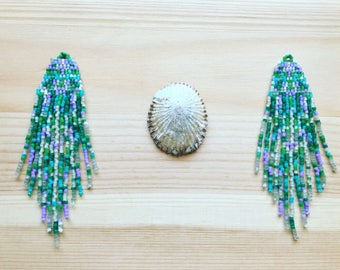 Lady of the Sea ~ Handmade Seed Beaded Earrings