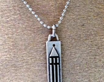 Atlantean bar pendant