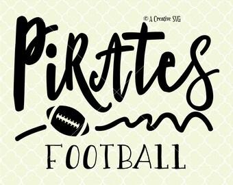 Pirates Football SVG DXF Files for Cricut Design, Silhouette studio.