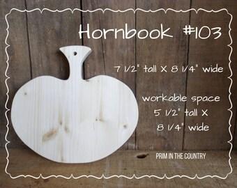 """Hornbook #103 (7 1/2"""" X 8 1/4"""")"""