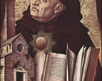 Poster, Many Sizes Available; Saint Thomas Aquinas By Carlo Crivelli