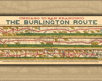 Poster, Many Sizes Available; Map Of Burlington Railroad 1879