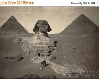 20% Off Sale - Poster, Many Sizes Available; Great Sphinx Partially Excavated C1878 Giza