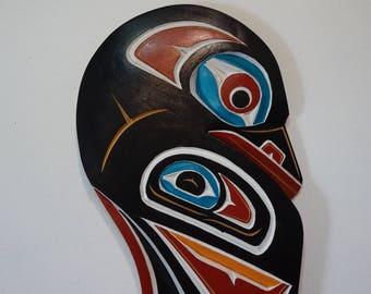 Bill Wilson Kwakiutl Artist Raven Carving