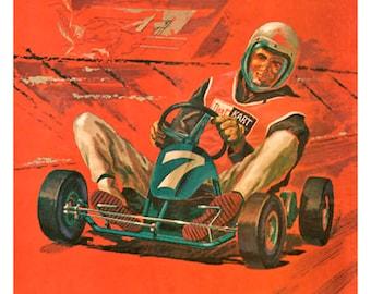 Dart Kart vintagte go kart poster