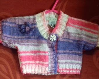 Hand knitted bolero to fit a child aged 0-9 months old