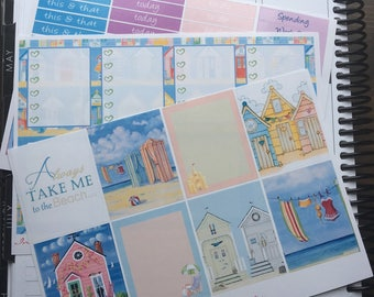 Summer Beach Cottage // Designed to fit your ECLP or MAMBI Happy Planner