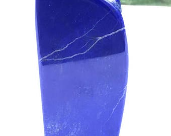 Royal Blue Lapis lazuli naturally shaped sculpture 254grams 11x4x2