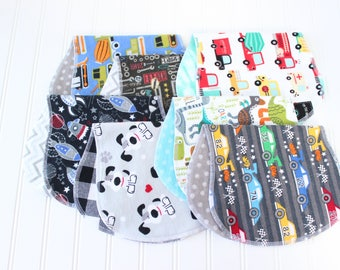 Baby Boy Burp Cloths - Set of 7 - Baby Shower Gift - Baby Gift