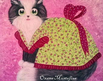 "Romantic cat ""Miss Lili Rose"""