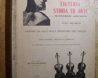 1937 Book Liuteria Storia ed arte Giuseppe Strocchi Strativarius Bicentennial Italian Language