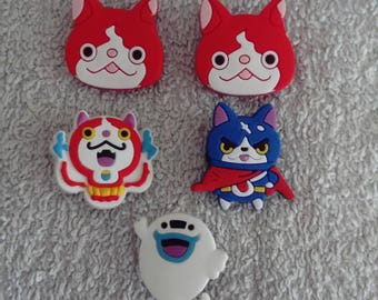 Lot 5 jibbitz Yo - kai watch (badges for fangs)
