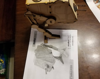 Similar to Star Wars AT-PT Walker wood laser cut model