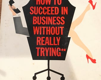 HOw to Succeed in Business Without Really Trying, original broadway cast recording, vintage vinyl LP album, 1961