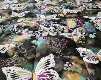weighted blanket for adults - child - teen - Insomnia - minky weighted blanket - restless leg syndrome - autism - 35x50 to 40x75 - butterfly