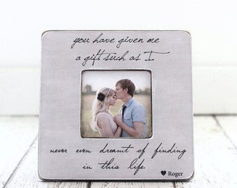 Gift for Husband on Father's Day, Personalized Picture Frame, Gift from Wife, Romantic Gift for Husband